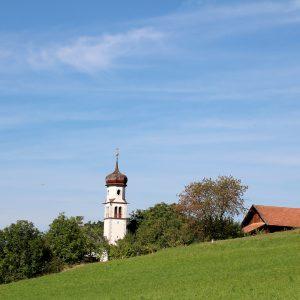 St. Georgskirche, Obermieming. Foto: Mieming.online