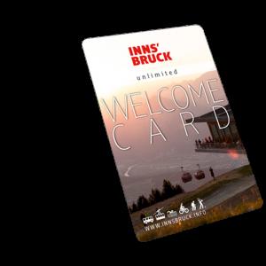 Welcom Card Innsbruck Tourismus